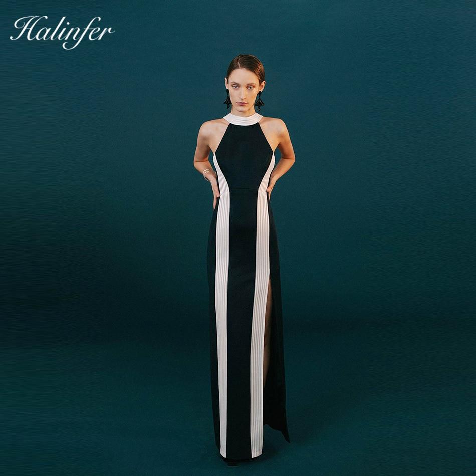2018 nouvelle mode sexy femmes dressTank rayé sans manches moulante rayonne Bandafe élégant échantillon célébrité robe de soirée