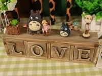 TOTORO di Miyazaki Hayao Action Figure Studio Ghibli Anime Mio Vicino TOTORO Resina Set Figures Giocattoli Per Bambini Modello di AMORE Figura Bambola
