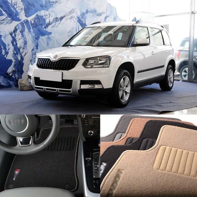 US $117 59 16% OFF|Superb Premium Auto Fabric Nylon Anti slip Floor Mats  Carpet For Skoda Yeti 2014-in Floor Mats from Automobiles & Motorcycles on