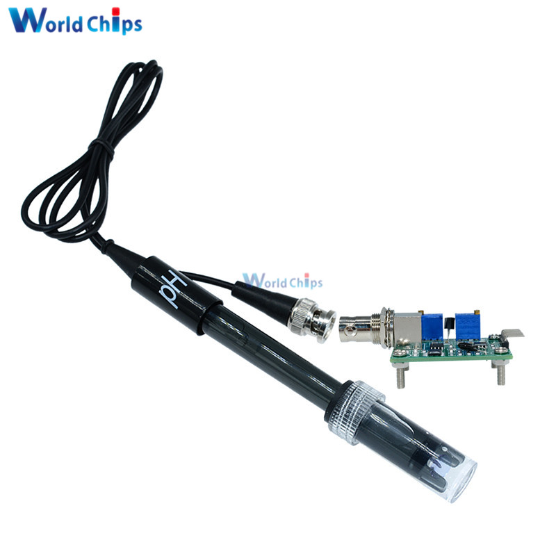 1Pcs Ph-201 Black Laboratory Electrode Electrode Sensor Connector Probe Ph