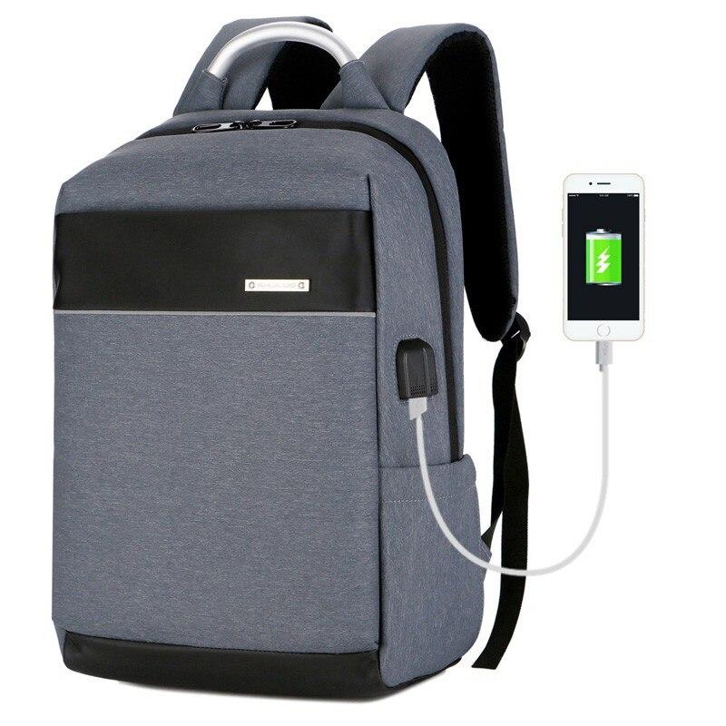 Anti theft Backpack USB Charging Men Laptop Backpacks For Teenagers Male Waterproof Trav ...