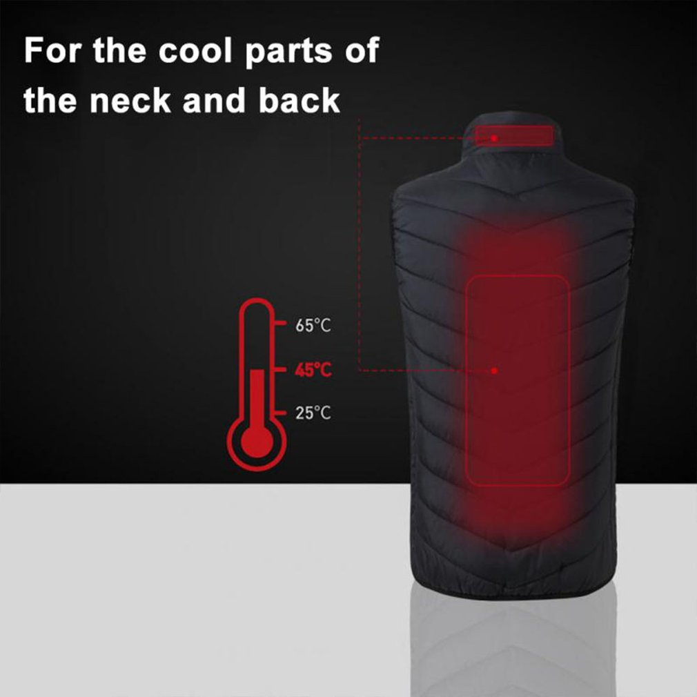 Intelligent Charging Heating Vest Electric Heated Vest USB Thermal Warm Cloth Durable Winter Jackets BlackIntelligent Charging Heating Vest Electric Heated Vest USB Thermal Warm Cloth Durable Winter Jackets Black