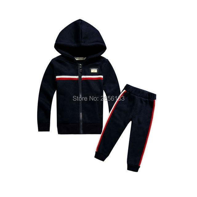 Горячая 2017 весна luxury brand мальчика костюм куртка + случайные брюки 2 компл. детей спортивные наборы костюм 1-7Y мальчик ребенок одежда
