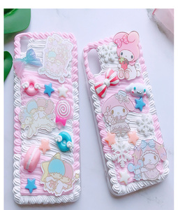 Image 3 - For huawei P30 pro/P20 plus /nova3e Gemini DIY case, 3D melody cover for samsung s10 plus handmade cream candy case gift