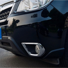 For Subaru Forester 2014 2015 2016 2017 Front Fog Light Lamp Bumper Cover Trim ABS Chrome Car Styling Accessories 2pcs abs chrome for nissan serena c27 highwaystar 2016 2017 2018 front bumper cover trim car styling
