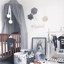 Simanfei Summer Children Kid Bedding Mosquito Net Romantic Baby Girl Round Bed Mosquito Net Bed Cover Bed Canopy For Kid Nursery holycat european style environmental protection cloth baby bed multifunctional children bed game bed with mosquito