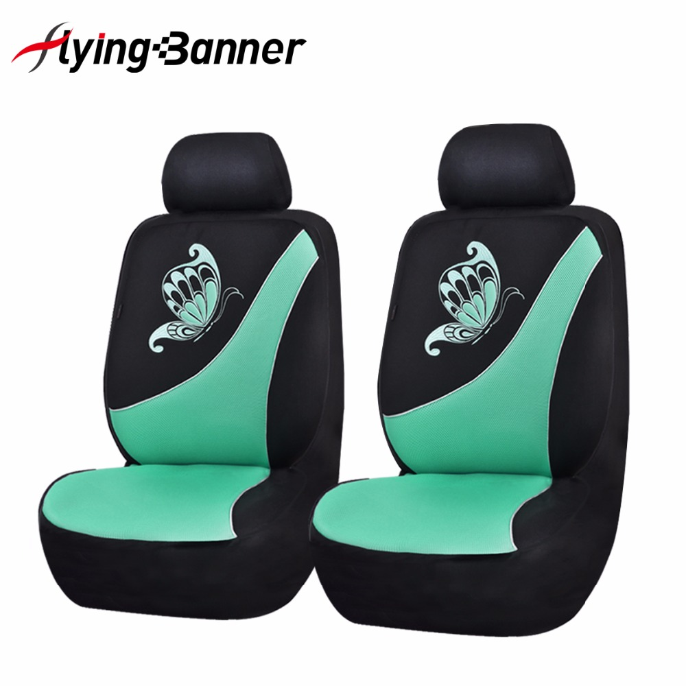 Flyingbanner Butterfly Printing Car Seat Cover Universal