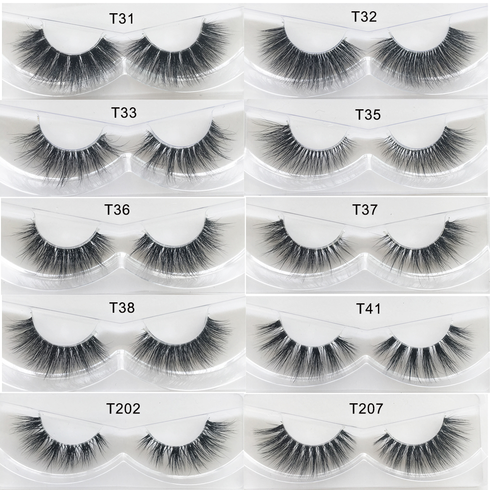 Huisghair Eyelashes 3d Mink Lashes Thick Handmade Full Strip Lashes False Eyelashes False Eyelashes