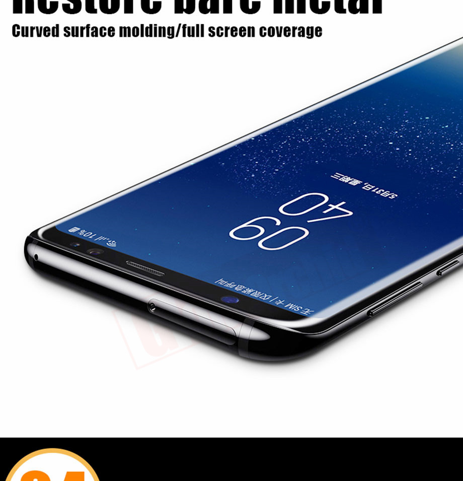 6-PC-For Samsung Galaxy S8 Tempered Glass