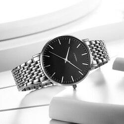 2018 Sinobi Fashion casual Ultra Thin Men Watch High Quality Slim Stainless Steel Mens Luxury Watches Quartz reloj hombre