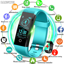 2019 Fashion New Smart Bracelet LIGE Luxury brand Watches Heart rate blood pressure monitor Health Sport tracking Band+box