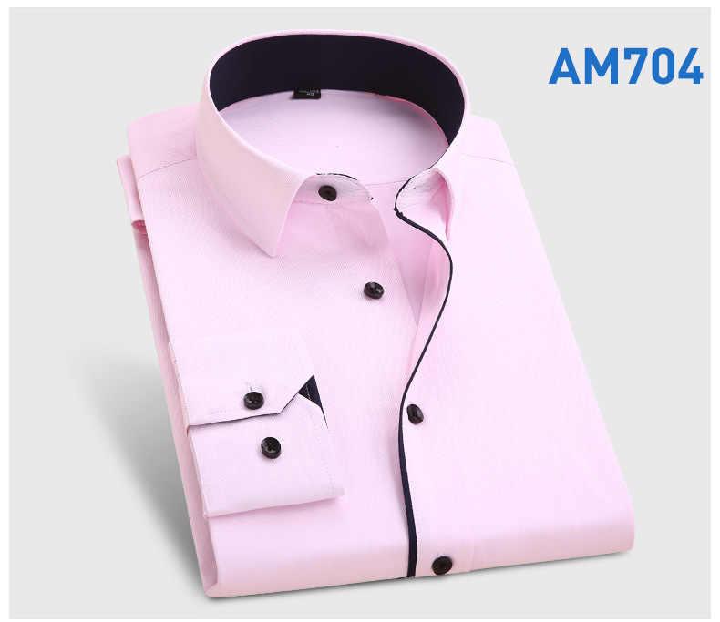 CH KWOK Patchwork hombres vestido camisas boda novio fiesta banquete camisas hombre Turn Down Collar negro blanco púrpura Formal negocios