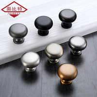 AOBITE Single Hole Mini Handle Black Chrome Cabinet Door Drawer Modern Minimalist Button Furniture Wardrobe Door Handles 641