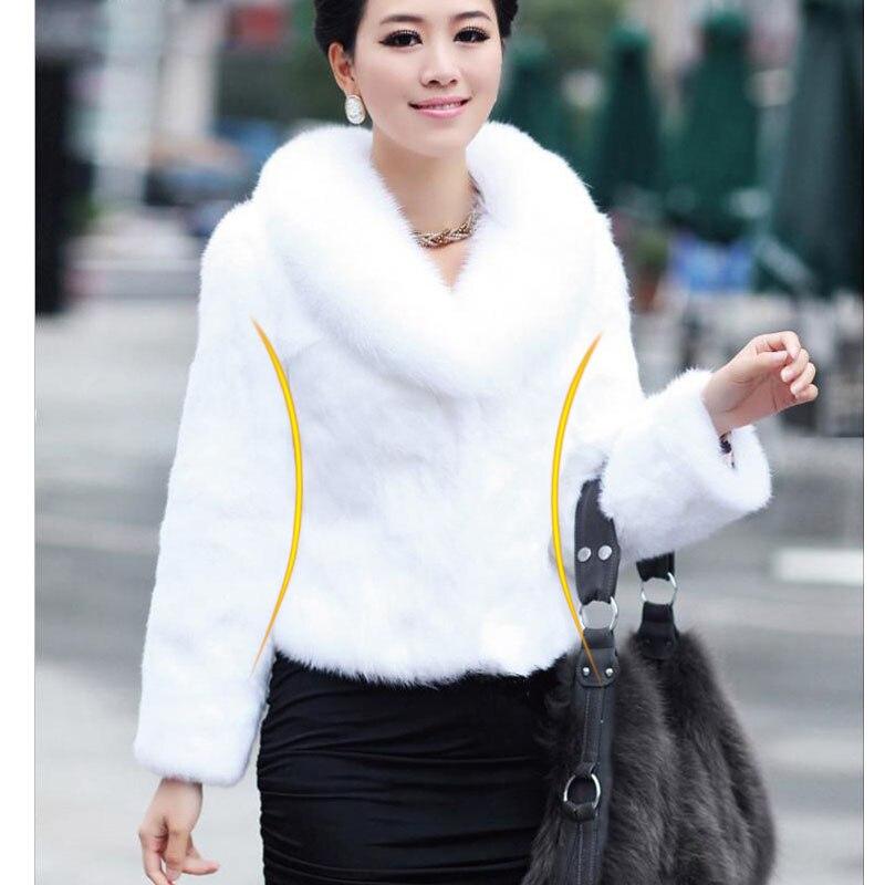 Chic Womens Rabbit Fur Hooded Jackets Parka Short Winter Warm Outwear Coats New