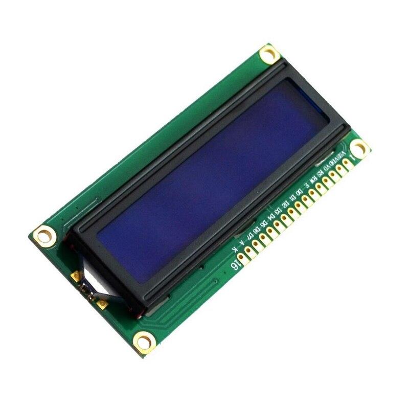 DSHA -NEW DC 5V HD44780 1602 LCD Display Module 16x2 Character LCM Blue Backlight