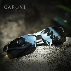 Image 1 - CAPONI Aluminum Magnesium Mens Sunglasses Polarized Sports Coating Sun Shades Driving Clear Vision Eyewear For Men UV400 CP8033