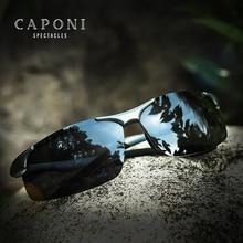 CAPONI 알루미늄 마그네슘 남자 선글라스 편광 된 스포츠 코팅 태양 음영 운전 남자에 대 한 명확한 비전 안경 UV400 CP8033