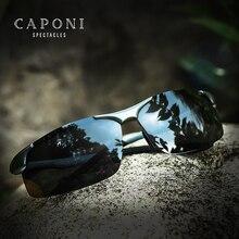 CAPONI alüminyum magnezyum erkek güneş gözlüğü polarize spor kaplama güneş Shades sürüş net görüş gözlük erkekler için UV400 CP8033