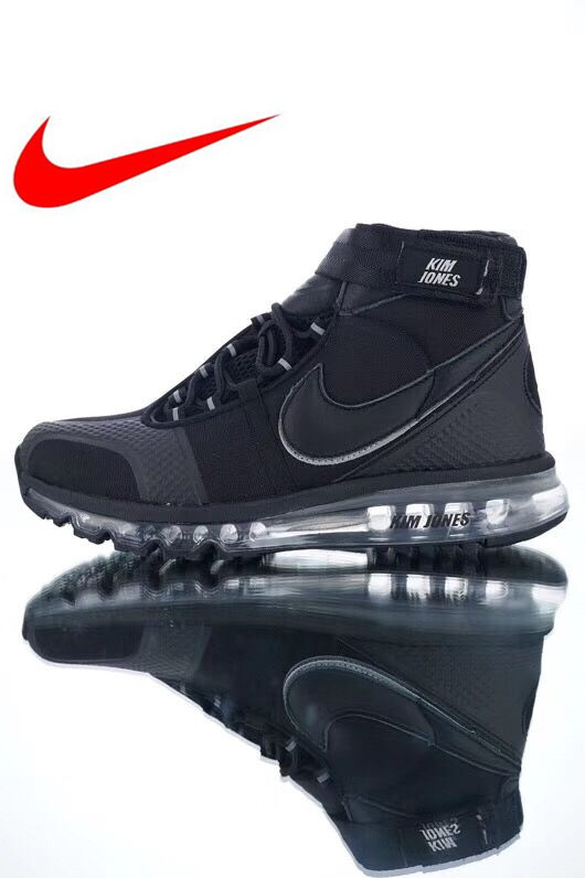 new style e24a5 e454d Original Nike Kim Jones x Nike Air Max 360 High Mens Running Shoes,  Shock-absorbing Non-slip Wearable Breathable Sneakers