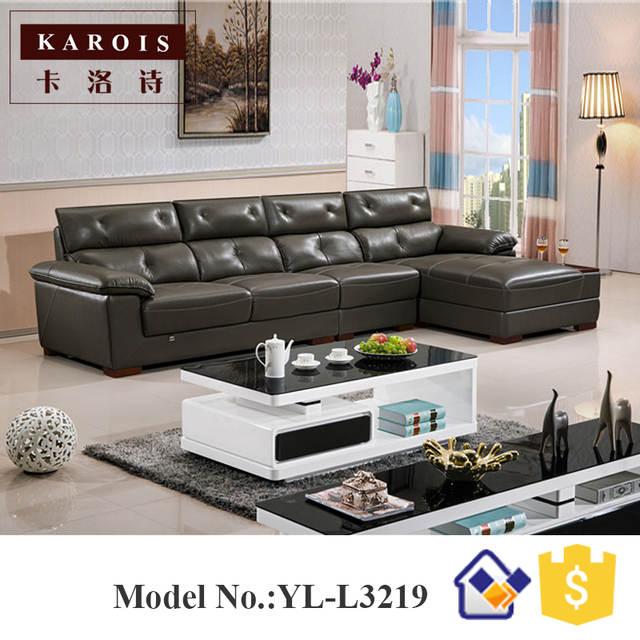 Turkey Furniture Classic Living Room L Shape Sofa Cama Cover Sofa Para Sala Leather Corner Sofas