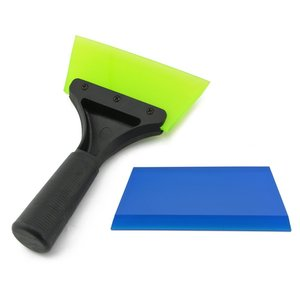 Image 5 - FOSHIO Handle Silicone Glass Water Wiper Squeegee with Extra Blade Ice Scraper Window Car Cleaning Tool Auto Tinting Tools Kit