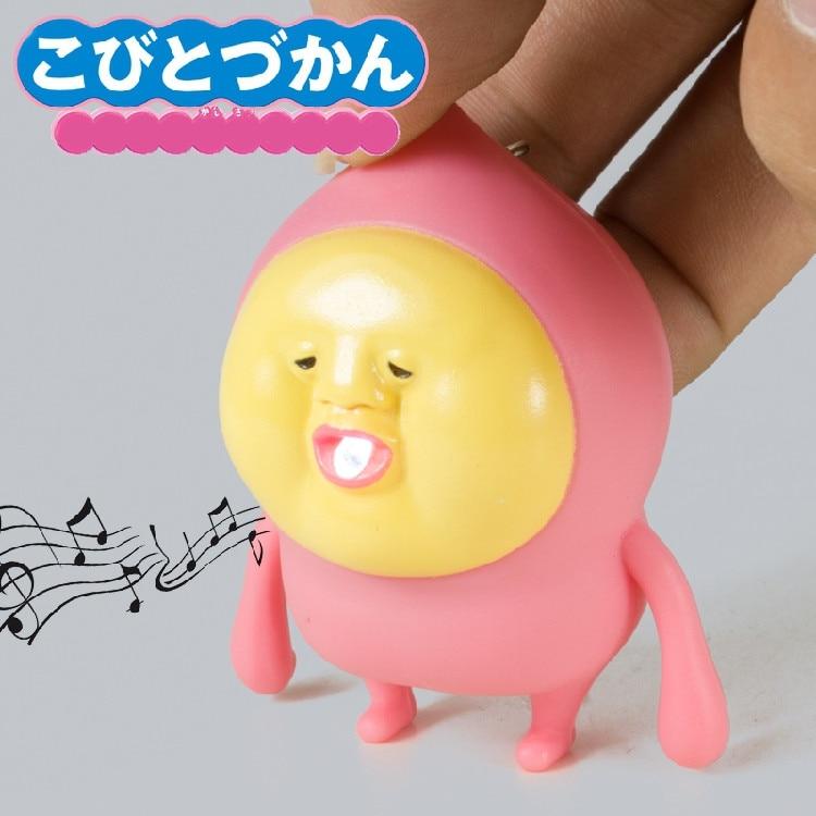 New Kobitodzukan Kobito Led Flashlight Keychina With Sound Action Toy Figures Keychain Toys Gift For