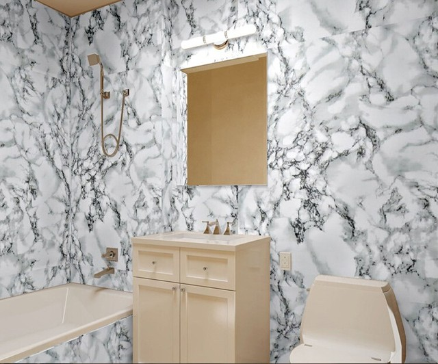 Wholesale Waterproof Marble Grain Paint Furniture Refurbished Wall Sticker Wardrobe Cabinet Decor Self Adhesive