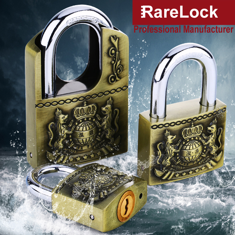 Rarelock MS539 Antique Padlock for Garden Gate Home Door Warehouse Car Jewelry Box Electric Cabinet Drawer Gym Locker 4 Keys h waterproof anti rust padlock anti theft lock with keys for dormitory cabinet drawer warehouse iron gate