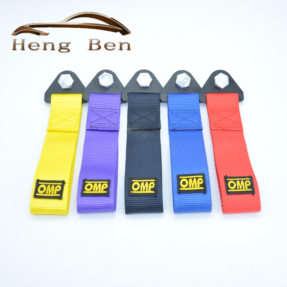 HB 2017 New  OMP Towing Rope Thicker Nylon Strap Tow Loop Strap Racing Drift Rally Emergency Tool Front Rear Bumper Hook