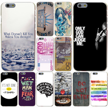 Do Not Judge By Us one hundred dollar 100 front Hard Transparent Case Cover for iPhone 4 4S 5 5S SE 5c 6 6s 7 7 Plus