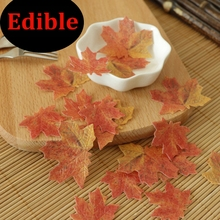 30pcs 3D Edible Maple Leaf Cake Decoration Wedding Birthday Party Baby Shower cake idea decoration edible paper