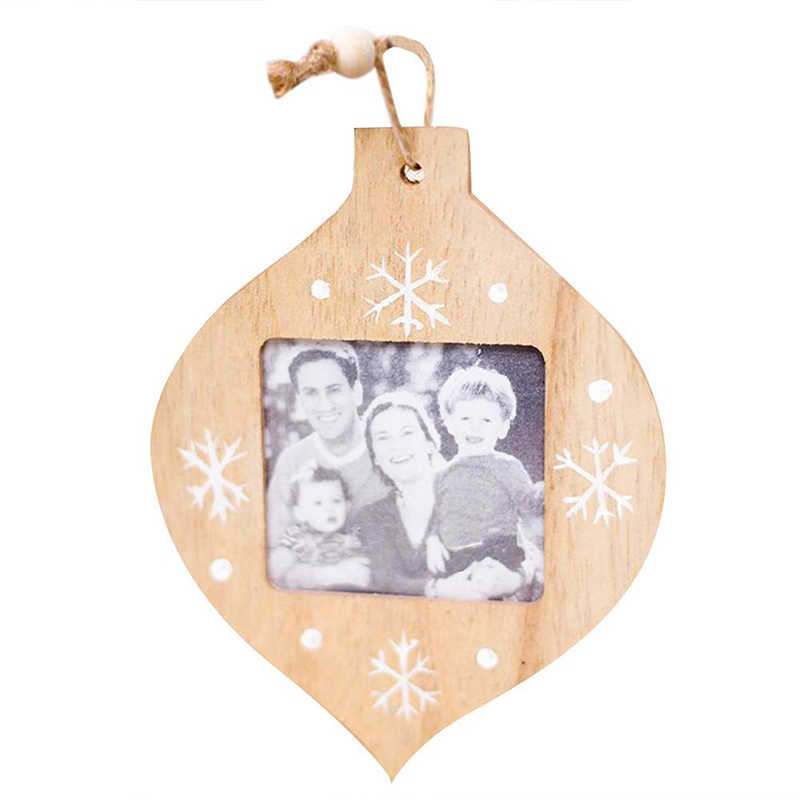 Creative Christmas Decorations DIY Wooden Photo Frame Pendant Christmas Decorations Ornaments Christmas Decorations For Home