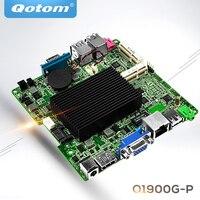 QOTOM Bay Trail j1900 mini itx motherboard Q1900G P, Quad core 2.42Ghz, DC 12V nano itx motherboard