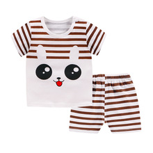 08d116b4b Brand Summer New Baby Outfits Baby Boy Girl Clothing Set Rabbit Tshirt  +Shorts 2 Clothes Suits Toddler Boy Clothes Kids Clothes