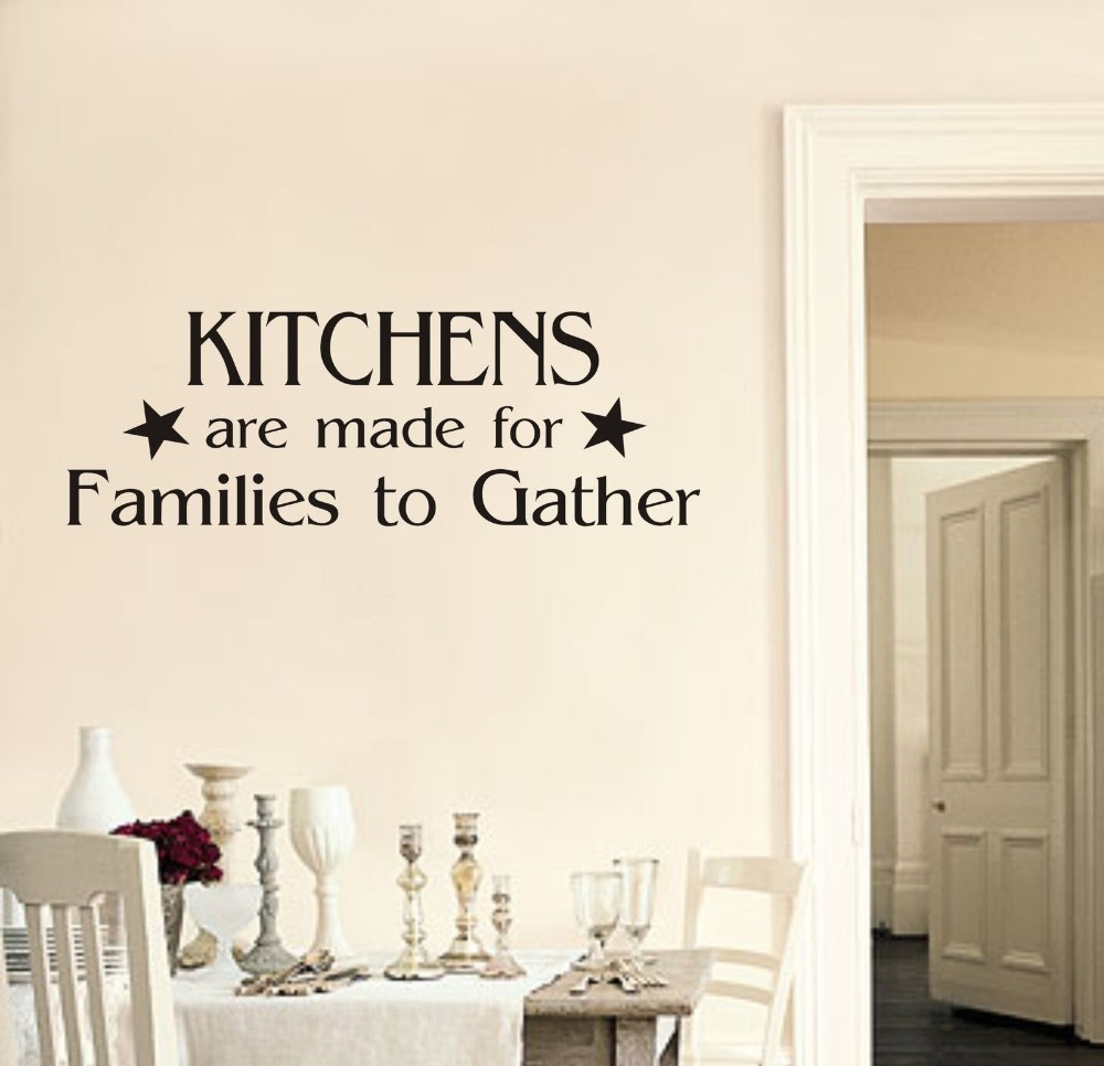 Kitchens Are Made For Families To Gather Wall Art Sticker Quote Dining Room 3 Sizes 40 COLORS Available In Stickers From Home Garden On