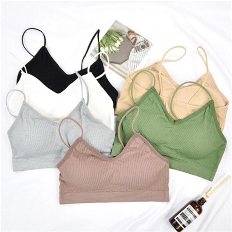 One Size Sport Top Yoga Bra Women Colorful Cotton Sports Bra Jogging Running Fitness Sports Bra Sport Crop Top Gym Bra Tops