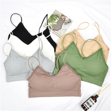 Yoga-Bra Bra-Tops Sport-Crop-Top Fitness Jogging Running Cotton Women One-Size Gym Colorful