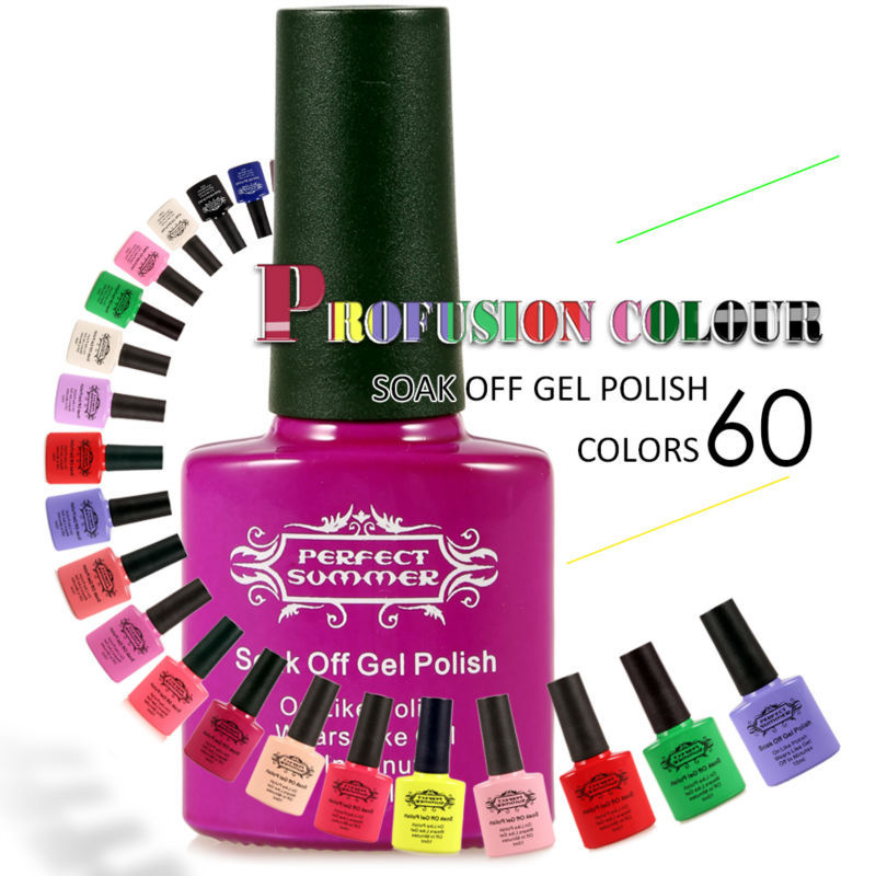 Perfeito verão Soak off LED UV unhas de Gel 10 ml cor doce unhas de Gel polonês Hot venda limitada Promotiom UV Gel polonês