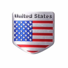 US USA American Flag Bicycle Stickers Metal Auto Refitting Car Badge Emblem Decal Sticker
