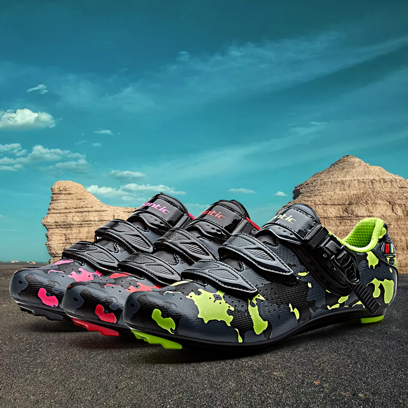 SANTIC Ccycling rRoad Shoes mtb Zapatillas Ciclismo Camouflage Bicicle Shoes Breathable Cycling Clothings WMS17004