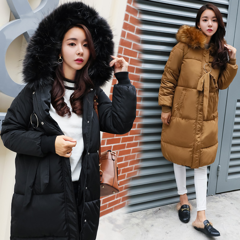 2017 Winter Jacket Women Hooded Thicken Coat Female Fashion Warm Outwear Down Cotton-Padded Long Wadded Jacket Coat Parka lstu winter jacket women 2017 fashion cotton padded hooded jacket female wadded jacket outerwear winter coat women