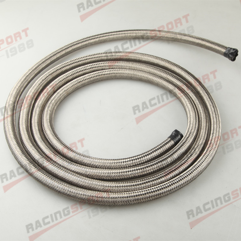 Stainless Steel Braided 1500 PSI AN10 AN10 Fuel Line Gas Oil Hose 6M 19 7FT