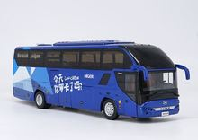 Alloy Model Gift 1:42 Scale KingLong Higer H92 KLQ6125B Travel Transit Bus Vehicle DieCast Toy Model Collection Decoration new arrival gift lp700 matte 1 18 model car collection alloy diecast scale table top metal vehicle sports race decoration toy