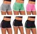 2017 fashion Brand Design Mujeres Shorts Contraste Side Dividir Pantalones Cortos de Cintura Elástica de Las Mujeres Más El Tamaño Corto Feminino 7 Colores