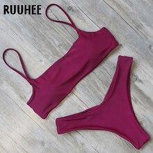 RUUHEE бикини Купальники для малышек для женщин купальник сплошной комплект Push Up ванный 2018 женский пляжная одежда заплыва ко