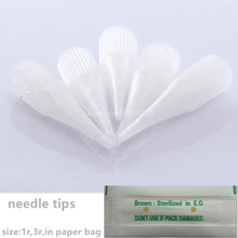 Disposable Makeup Needle Plastic Tips 1r/3r For Makeup Artist And Machine -Permanent Tattoo Needles Caps