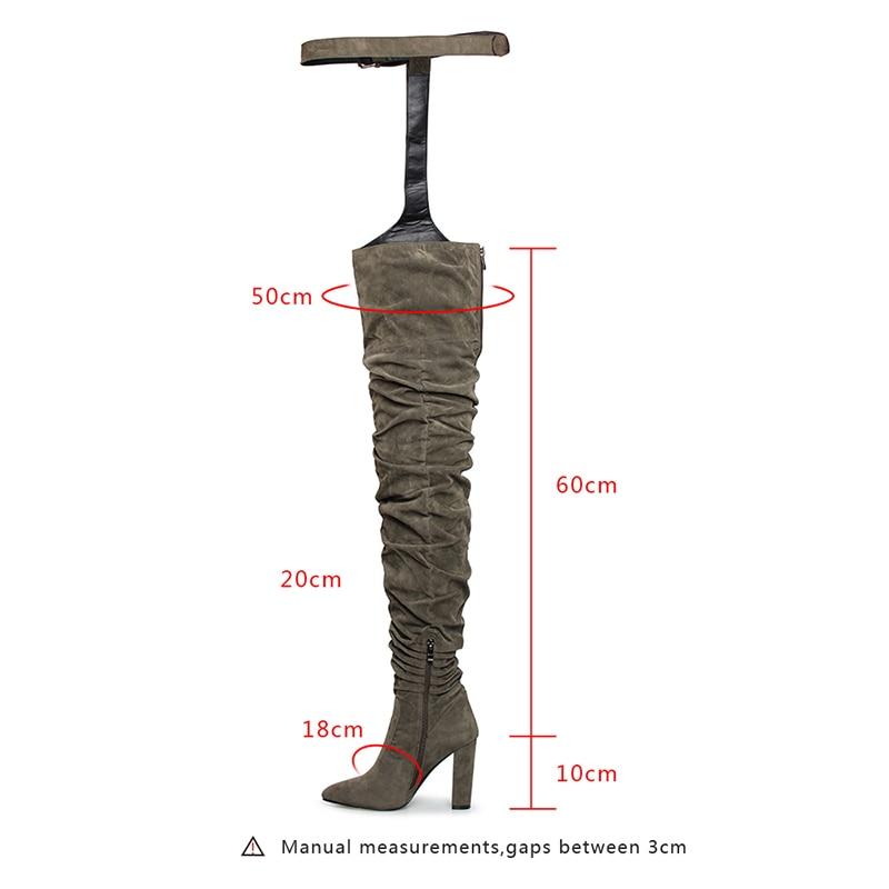 Chaussures Troupeau Mouillé Green Femme Femmes Bottes Talons Nouveau Pantalon Épais Leggings Boucle army Baiser 2019 Féminine Mode Sexy Noir Haute La De PpA5qAw