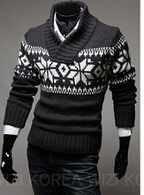 New spring 2016 men's snowflake sweater Handsome fashion discount promotion