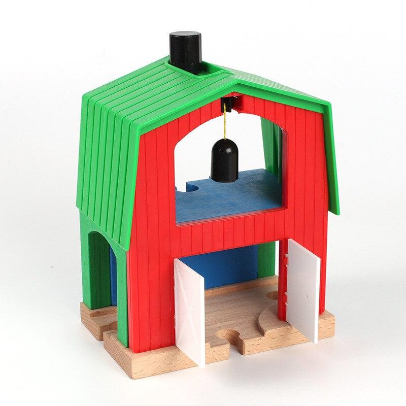 Thomas and Friends-Green House Crane Thomas Wooden Train Track Railway Accessories Crane House Tender Educational Slot DIY