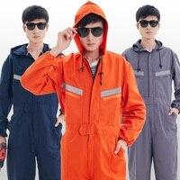 Рабочий костюм для мужчин и женщин 160-190 см с капюшоном с длинным рукавом Авто Ремонт мужской защитный комбинезон рабочие брюки комбинезоны